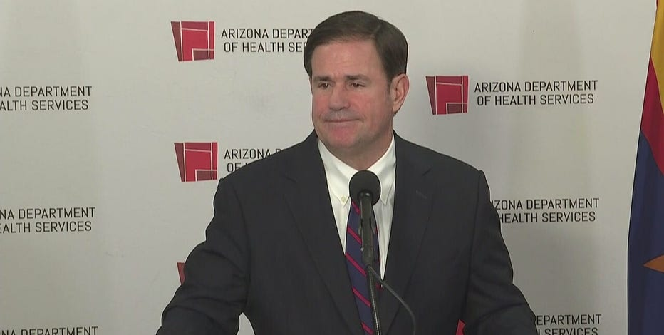 Gov. Ducey says Arizona continues to see progress with downward trajectory of COVID-19