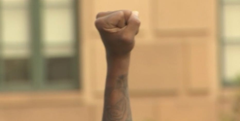 In commemoration of March on Washington, protesters rally in downtown Phoenix