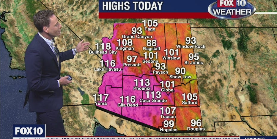 Phoenix breaks yet another heat record as Excessive Heat Warning remains in effect for 11 Arizona counties
