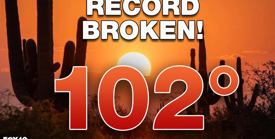 NWS: Phoenix hits 102°F, sets new record for number of days with triple-digit temperatures