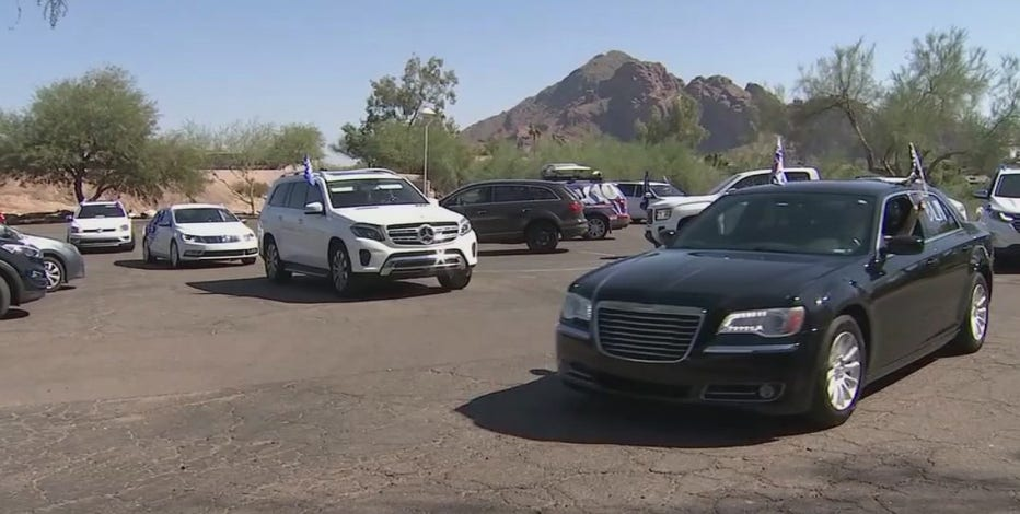 Voter caravan travels to Downtown Phoenix to drop off election ballots