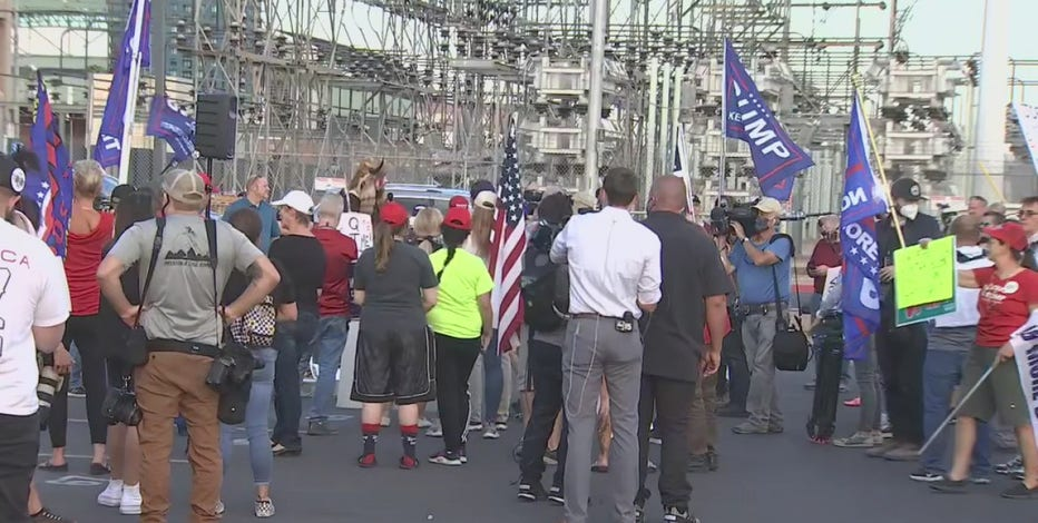 Phoenix Trump supporters hold protests as votes continue to be counted