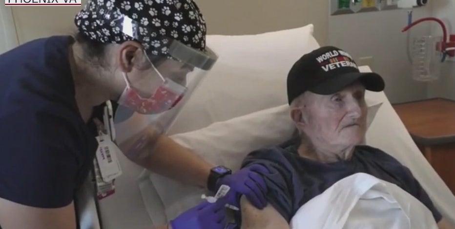 World War II veteran among the first to get COVID-19 vaccine at Phoenix VA