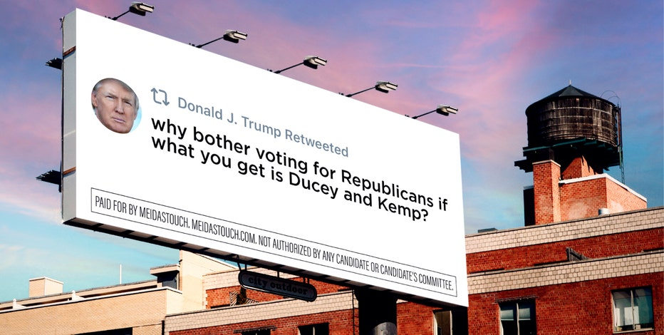 Tweet mocking Arizona Gov. Doug Ducey and Georgia Gov. Brian Kemp now on billboard