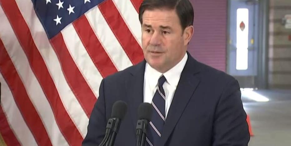 Gov. Ducey touts COVID-19 vaccine as open hospital beds hit record low