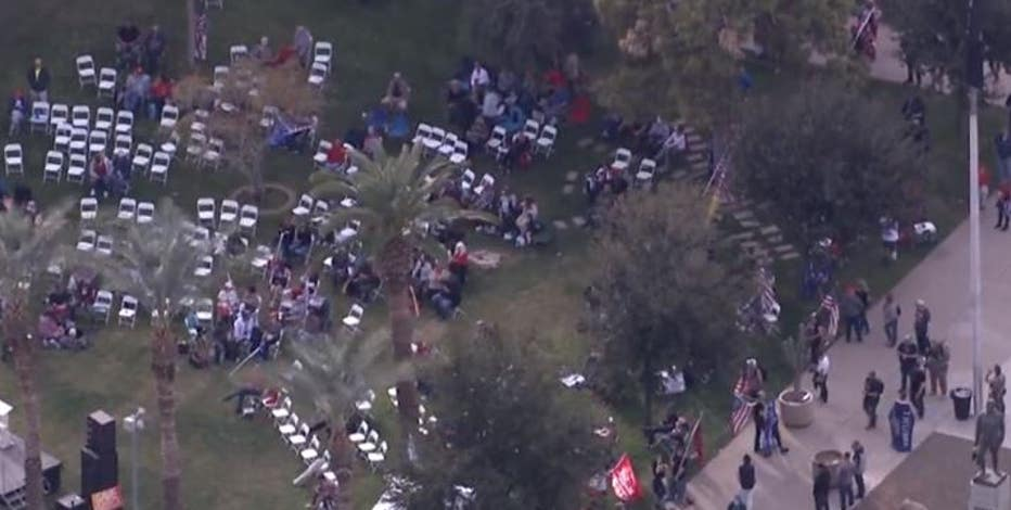 President Trump supporters rally at Arizona Capitol as DC protest turns violent