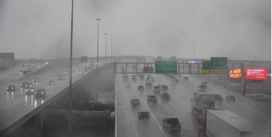 Winter Storm Warning in effect for northern Arizona; rain, hail reported across the Valley