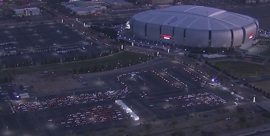 State Farm Stadium COVID-19 vaccine site workers treated to Super Bowl festivities