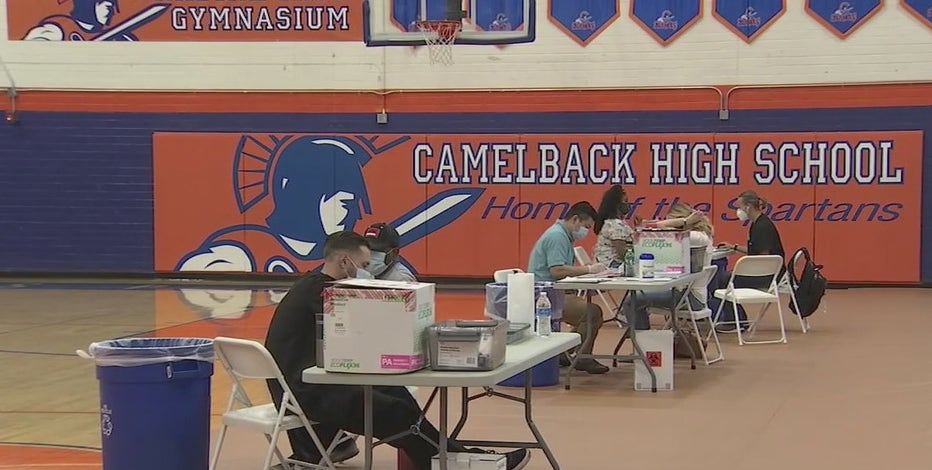 Camelback High School turned into COVID-19 vaccination site