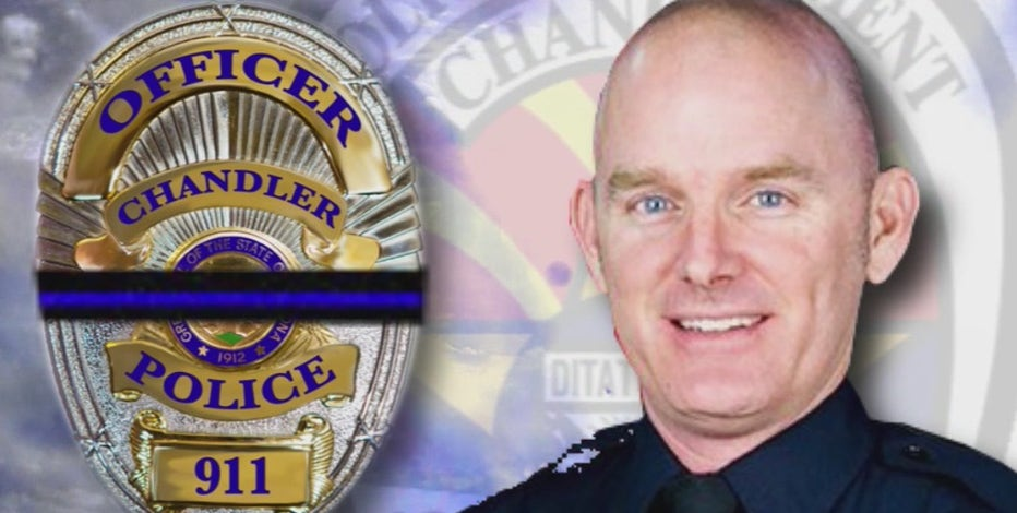 Remembering Christopher Farrar: Vigil held for Chandler police officer hit and killed by suspect