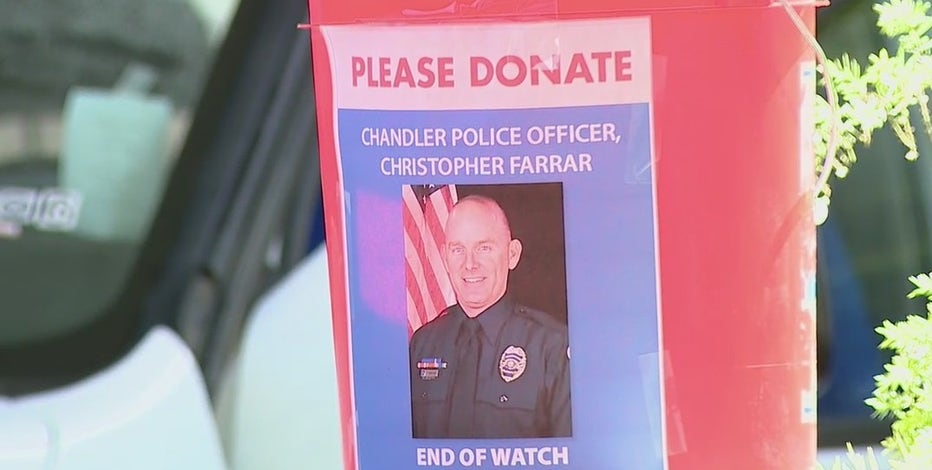 Benefit held for fallen Chandler police officer; suspect faces murder charge