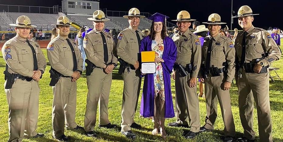 DPS troopers escorted daughter of fallen trooper to graduation in Wickenburg