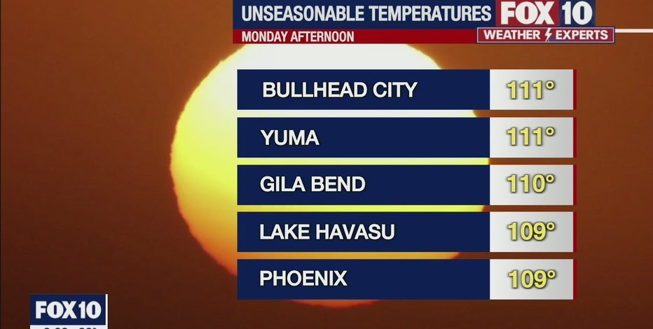 Excessive Heat Warning in effect for 6 Arizona counties