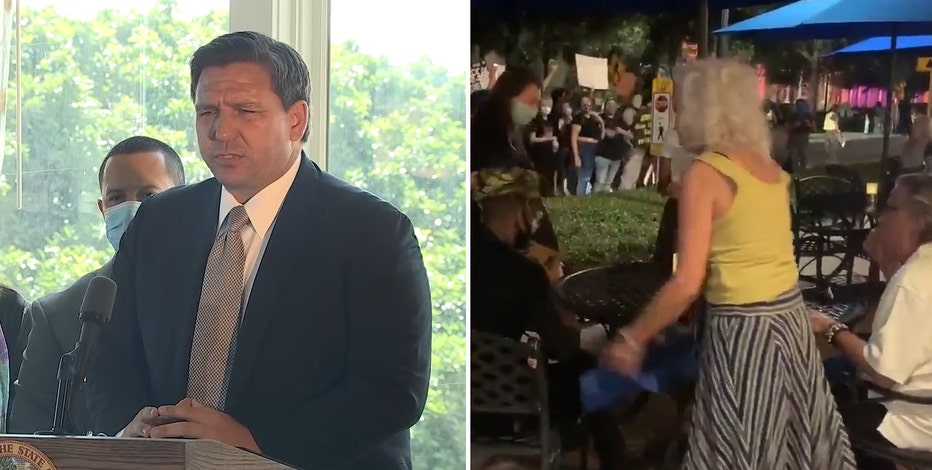 'Mobs harassing innocent people': DeSantis condemns intense confrontations by St. Pete protesters