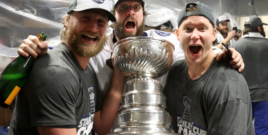 Bubbly in the bubble: Photos from the Tampa Bay Lightning's Stanley Cup celebration