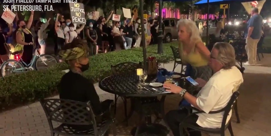 St. Pete protests become heated following Breonna Taylor grand jury decision, videos show
