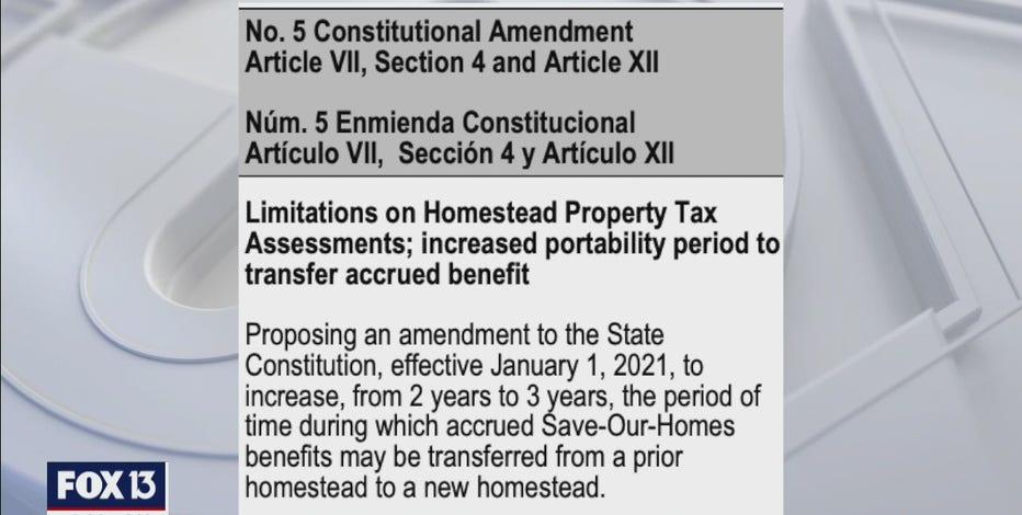 Florida Amendment 5 explained: Property tax benefit extension