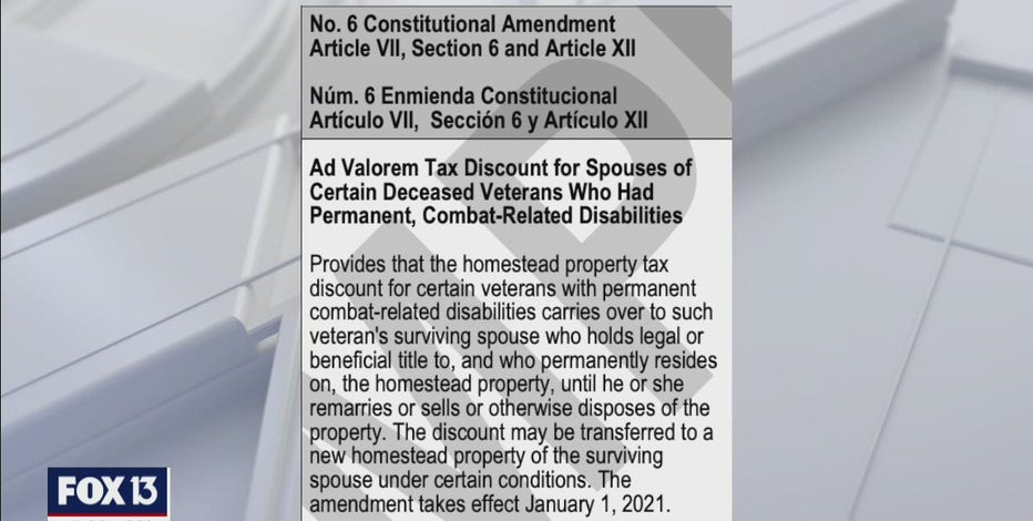 Florida Amendment 6 explained: Transferring veterans' tax breaks