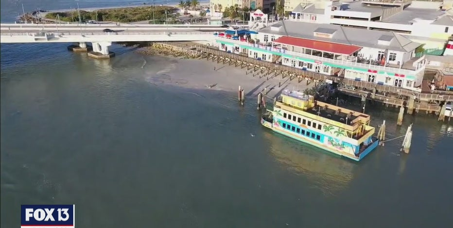 New moon lowers tide, exposes sand problem on Johns Pass