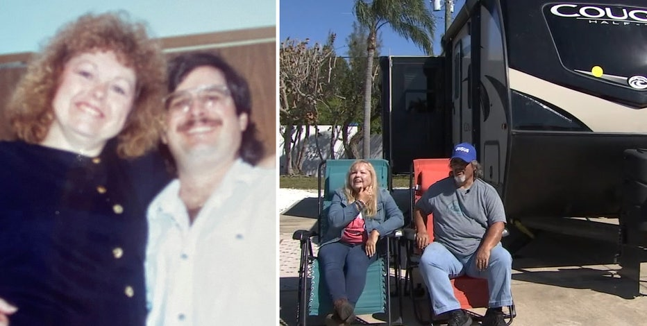 Romance on the road: Married couple traded in home for RV to travel the U.S.