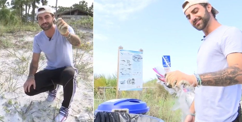 TikTok star inspires others to keep beaches and parks clean