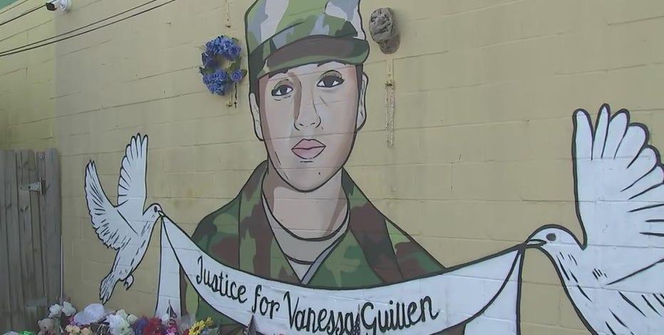 Artists create 20 murals around Houston area to honor Spc. Vanessa Guillen