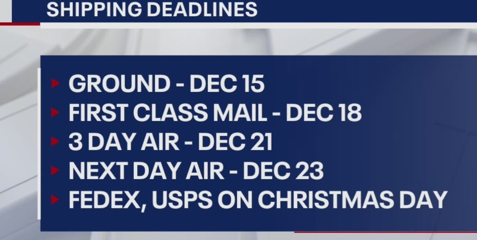 2020 holiday shipping deadlines are here