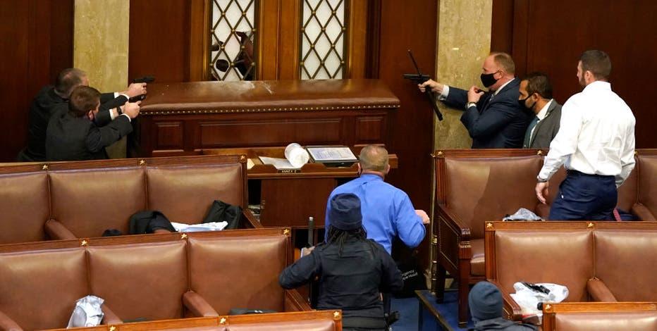 Congressman Troy Nehls stood alongside police, protecting U.S. Capitol chamber