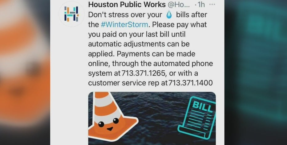 """Houston mayor urging residents to not """"freak out"""" if you receive high water bill following winter storm"""