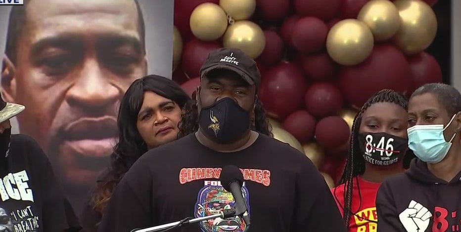 'Black lives will rise': Family of George Floyd speaks at mural dedicated in his honor