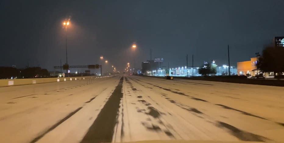 LIST: Ice reported on Houston-area roadways
