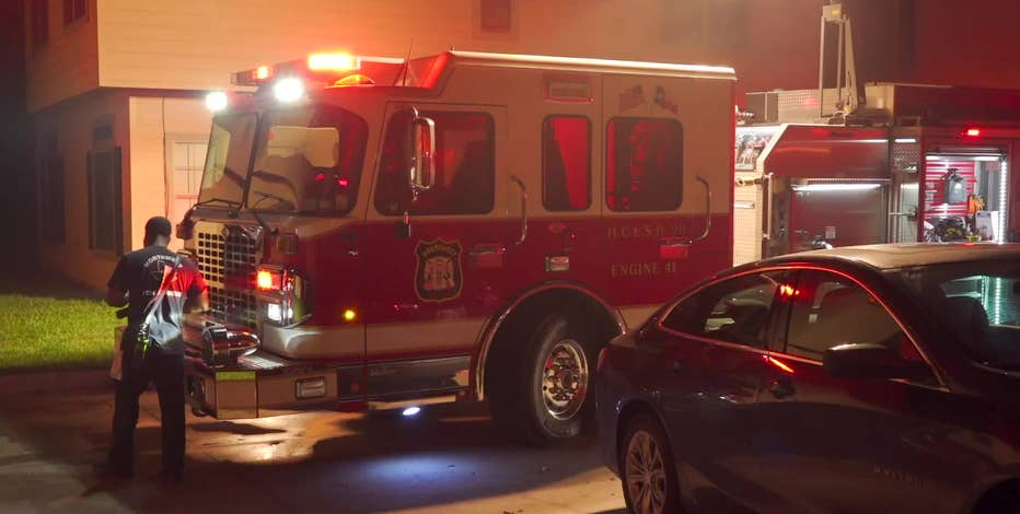 Fireworks start fire in garage at north Harris County apartment