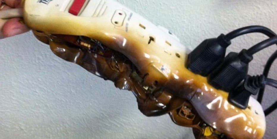 Here is why you don't plug space heaters into power strips