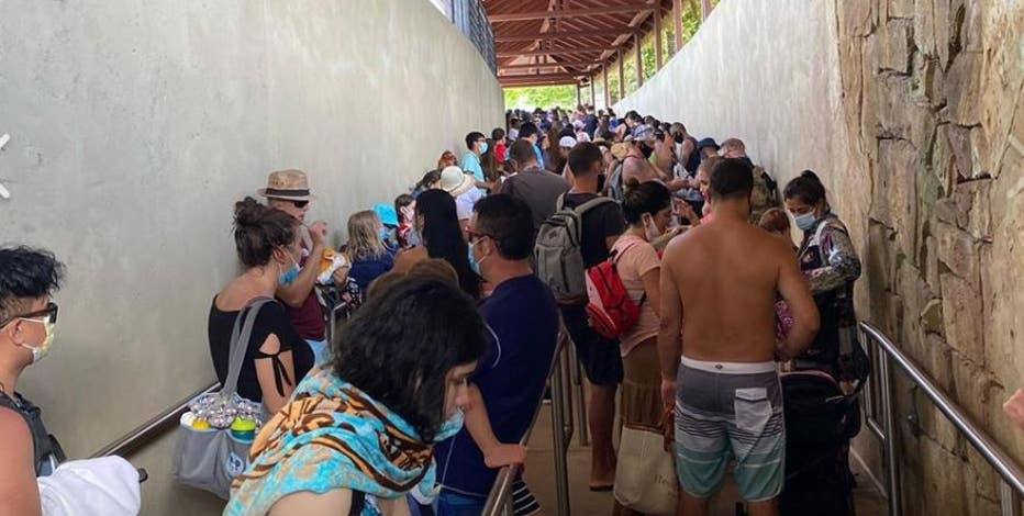 Photos of crowds at Universal Orlando's Volcano Bay spark concern
