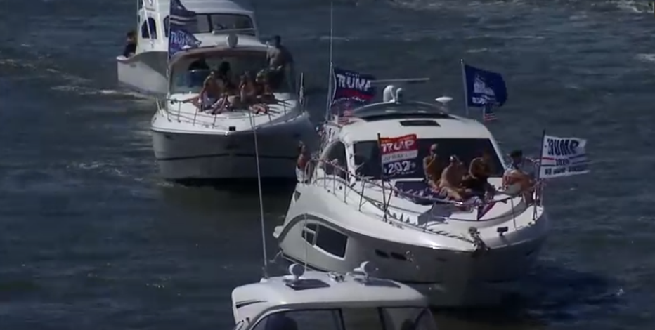 New Jersey boat parade in support of Trump, police and vets attempts to break world record
