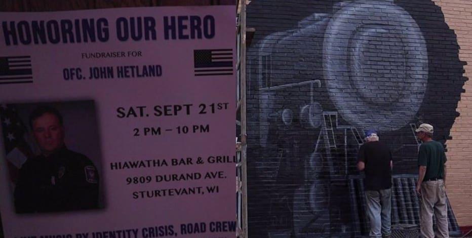 'We miss him terribly:' Fallen Officer Hetland memorialized with mural in Sturtevant
