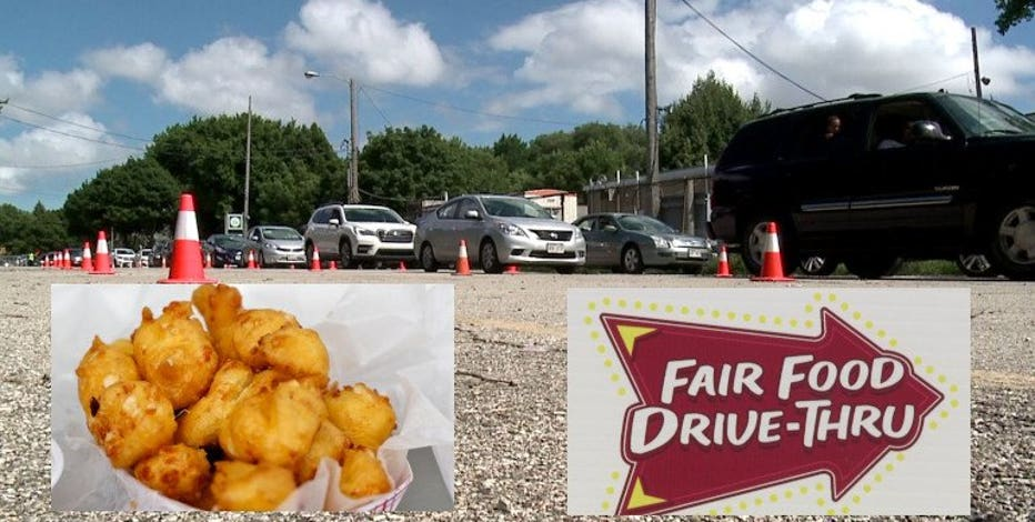 Officials: Turnout 'amazing' for 1st State Fair Food Drive-Thru featuring 11 favorites