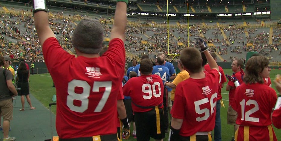 """""""It's an honor; a great experience:"""" Special Olympics athletes play flag football game on Lambeau Field's turf!"""