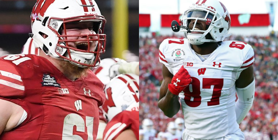 Cowboys draft Wisconsin offensive lineman Tyler Biadasz; Lions select Badgers' Quintez Cephus
