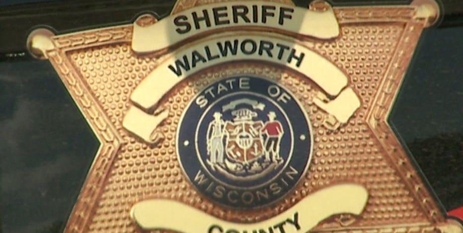 Walworth County crash; sheriff's deputy injured