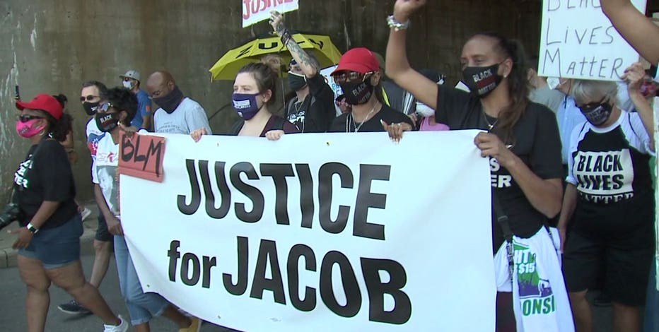 Jacob Blake's family holds Kenosha rally against police violence