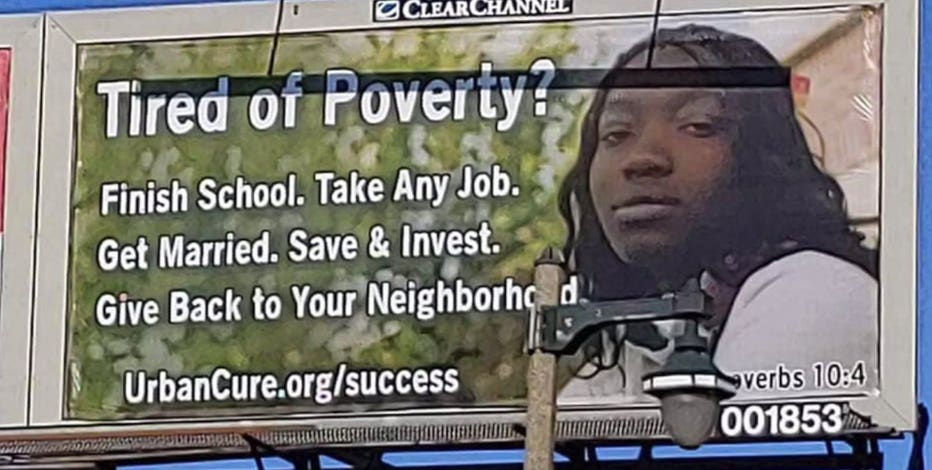 'These are big issues:' Billboards removed after message about poverty sparks controversy