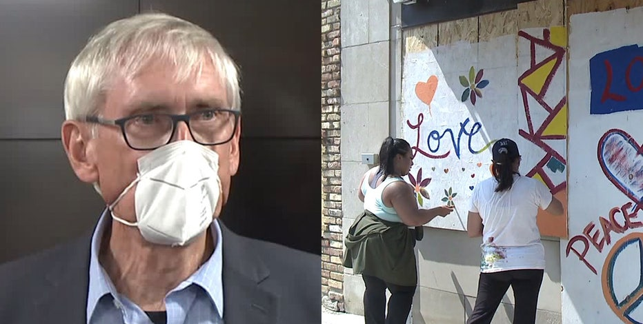Gov. Evers visits Kenosha, community continues cleanup efforts: 'We'll rise up'