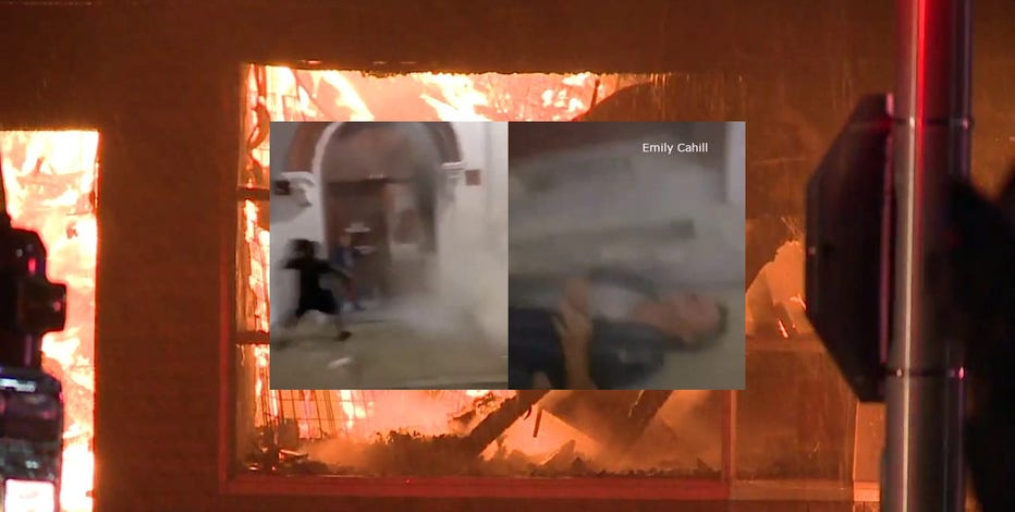 'Broke his jaw:' Man in his 70s attacked while trying to protect burning Kenosha mattress store