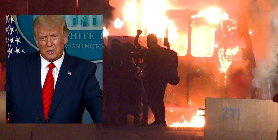 'Should be very interesting:' Pres. Trump speaks out ahead of trip to Kenosha following Blake shooting