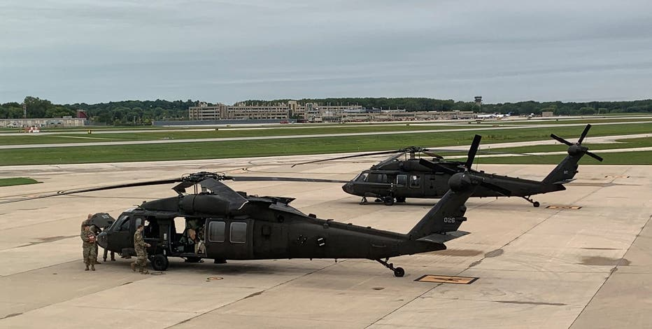 Wisconsin National Guard assists wildfire fight