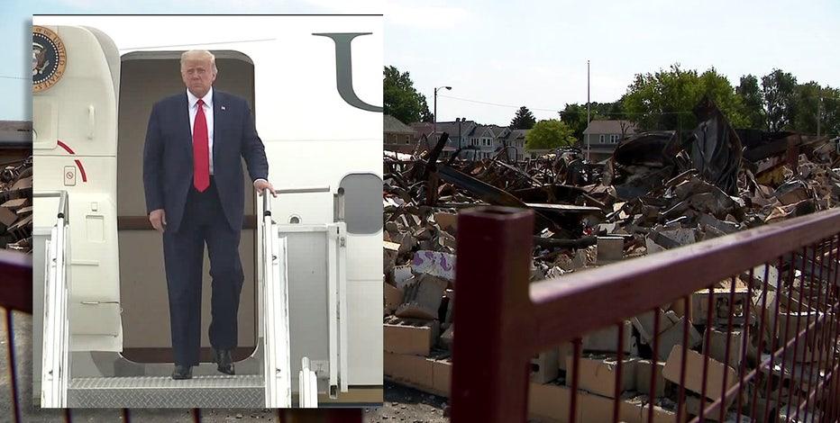 Wisconsin Democrats accuse President Trump of using Kenosha trip as photo-op