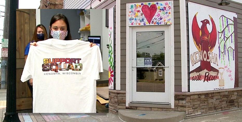 Business sells t-shirts, portion of sales to help rebuild Kenosha