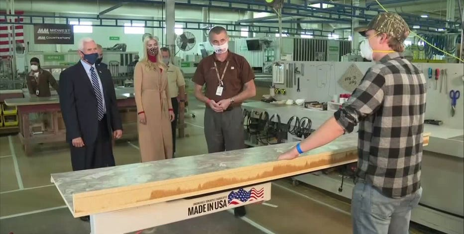 VP Mike Pence travels to Eau Claire to focus on manufacturing
