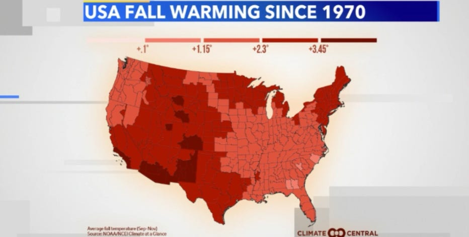 Warmer fall weather has become the new normal for southeast Wisconsin and the US